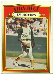 1972 Topps Baseball Cards      170     Vida Blue IA